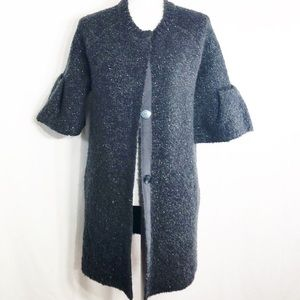 RU:I Black Sweater with Bell Sleeves    D144